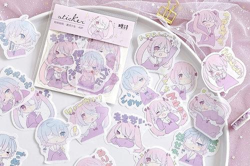 anime washi stickers