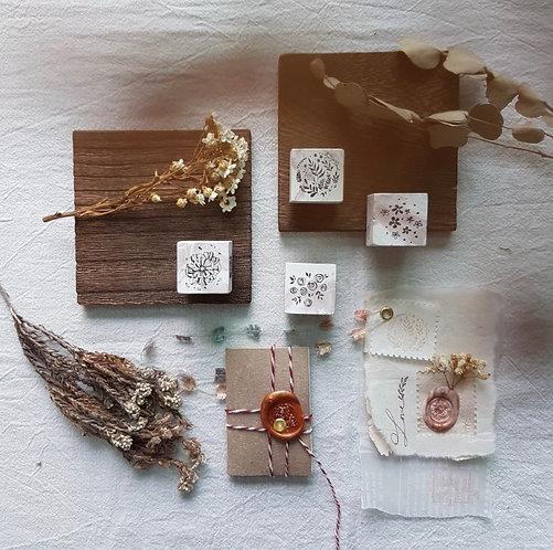 Floral rubber stamps Novebyvivient