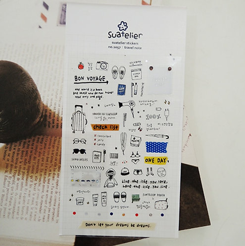 Suatelier Stickers Travel