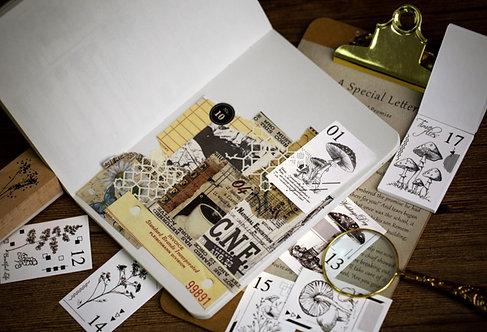 vintage paper booklet ephemera, journaling supplies
