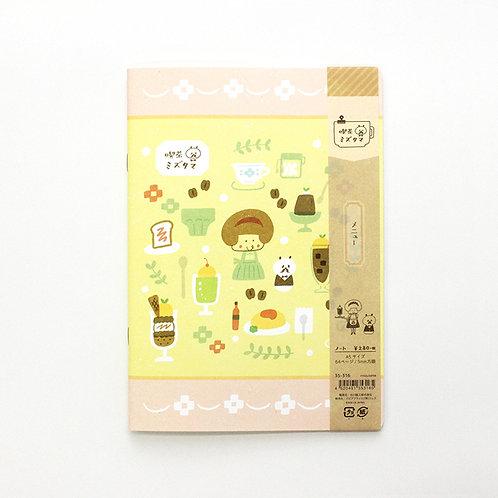 mizutama notebook tea shop menu