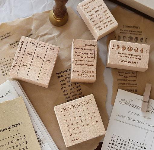 calendar planner rubber stamp