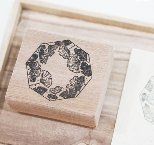 black milk project, gingko, rubber stamp