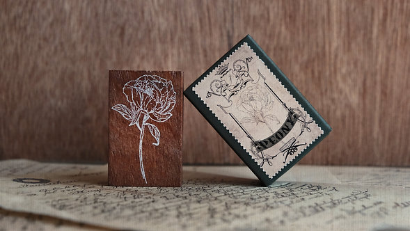 Jieyanow Atelier Garden of Inspiration rubber stamp