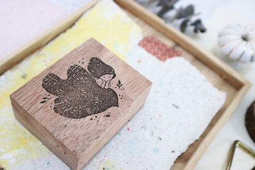 Black Milk Project Birds rubber stamps