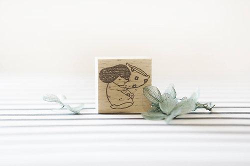 Kami Kami Chop Rubber Stamp - Good Night Floral Pillow