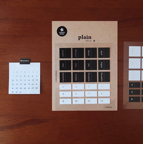 Suatelier Plain Monthly Stickers