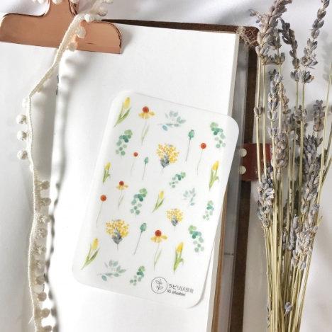 Laabiri Little yellow flower Transparent Sticker