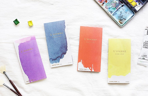 Ombre Watercolor Memo Series by NOTE FOR