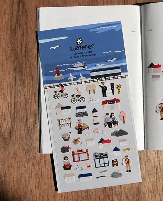 Suatelier Stickers - Ocean Village (No. 1100)