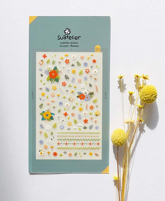 Suatelier Stickers - Flowery (No.1070)