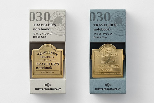 Traveler's Notebook Brass Clip (TRC Logo/Airplane)