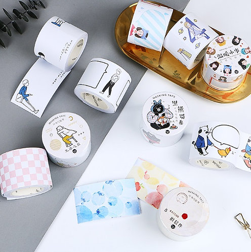 Girls and Pastel Color Washi Tape / Masking Tape (Choose Design)