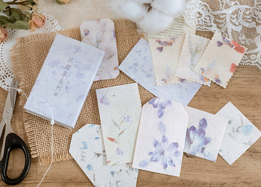 Lavender Watercolor Flower Papers in Box