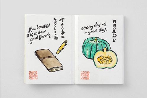 Traveler's Notebook 015 Watercolor Paper Refill, Passport