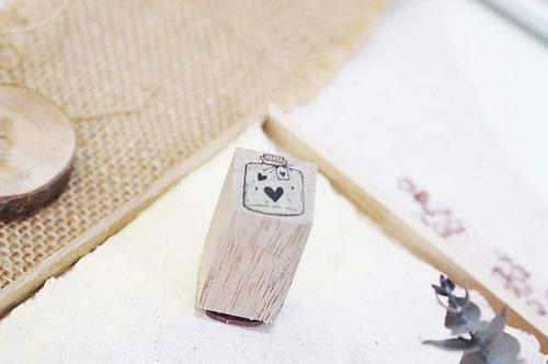Black Milk Project rubber stamp Mini Jar Love