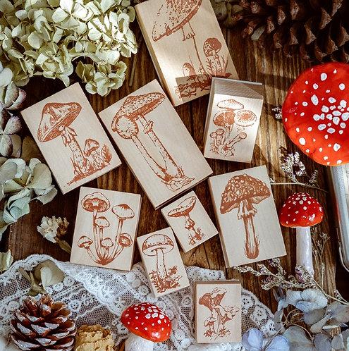 mushroom rubber stamp
