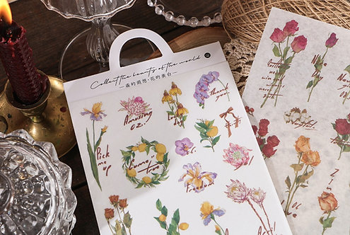 flower sticker sheets