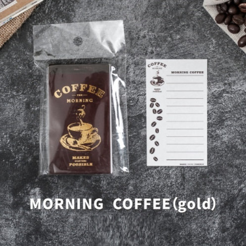 coffee memo pad