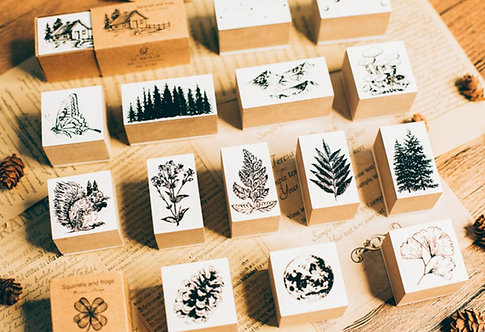 nature rubber stamp