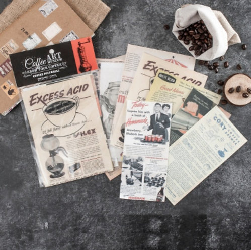 coffee advertisement papers