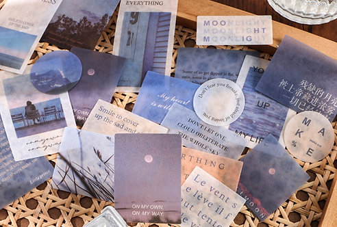 Blue Sky Scenery Sticker Flakes Pack