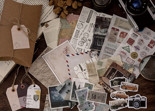Vintage Map, Tickets and Travel Journaling Pack