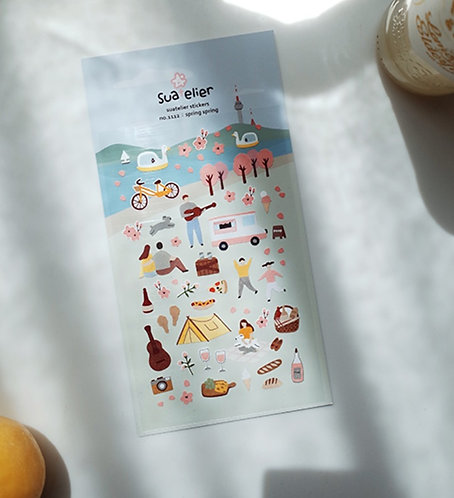 Suatelier Stickers - Spring Spring (No. 1112)