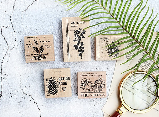 Moodtape Series 11 Rubber Stamp / Wooden Stamp
