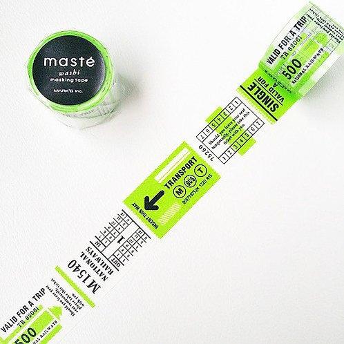 maste MULTI Travel Ticket washi tape (25mm)