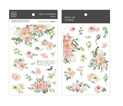 MU Print-On Sticker - Beauty Flower 170