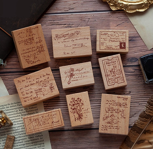 Manuscript Tales Rubber Stamp (Choose Design)