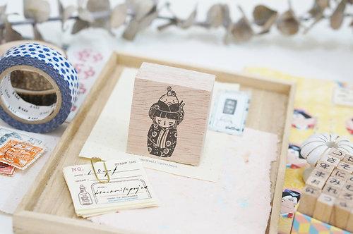 Black Milk Project rubber stamp Onigiri Kokeshi