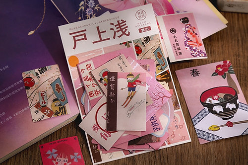 Pink Japanese Theme Stickers Pack