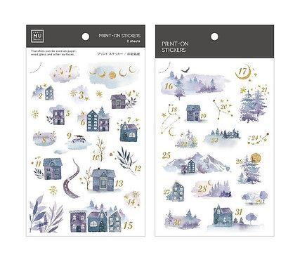 MU Print-On Sticker - Date Houses 164