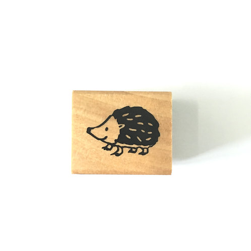hedgehog rubber stamp, kodomo no kao