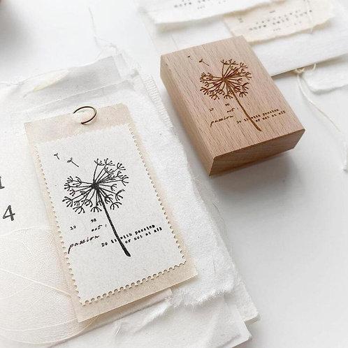 NYRET Dandelion Rubber Stamp