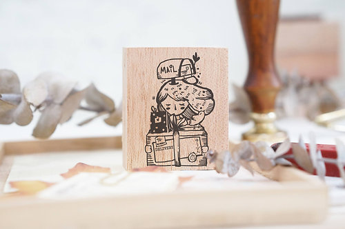 Black Milk Project rubber stamp Delivery Girl