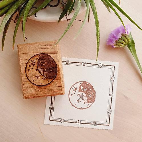 ElsieWithLove - Moon Series M01 Rubber Stamp