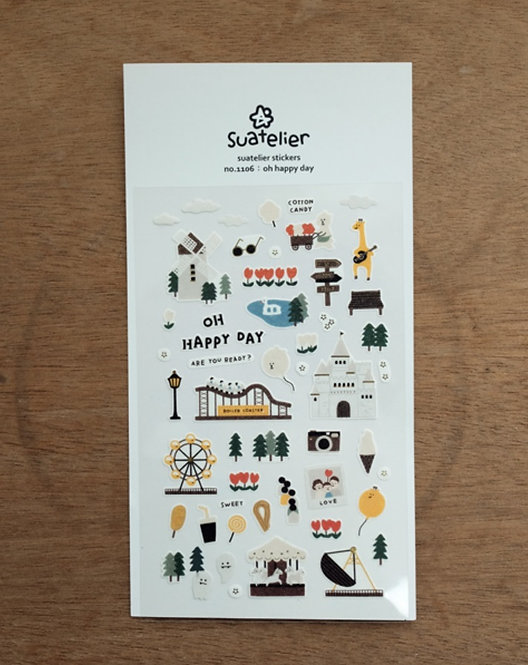 suatelier sticker oh happy day 1106