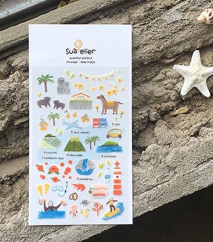 Suatelier Stickers - Stay in Jeju No.1092