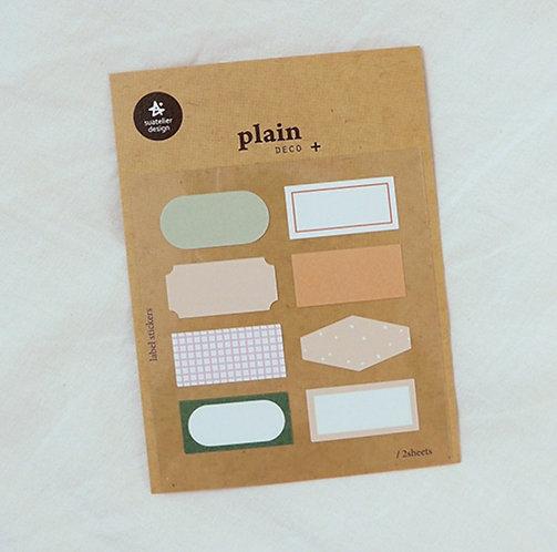 Suatelier Sticker - Plain Label No. 1663