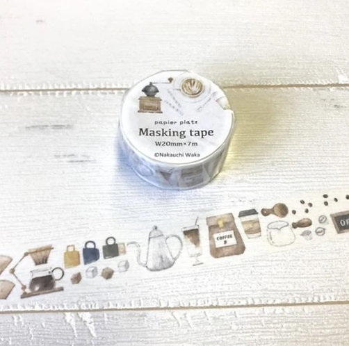 papier platz nakauchi waka coffee washi tape