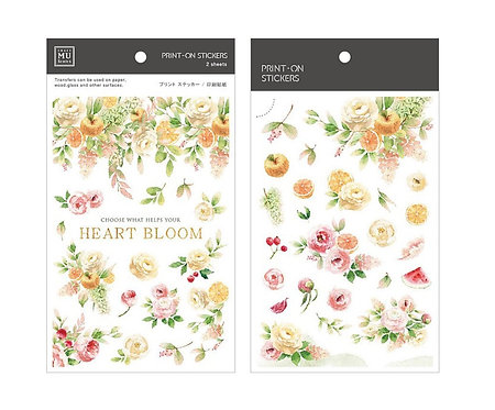 MU Print-On Sticker - Heart Bloom 172