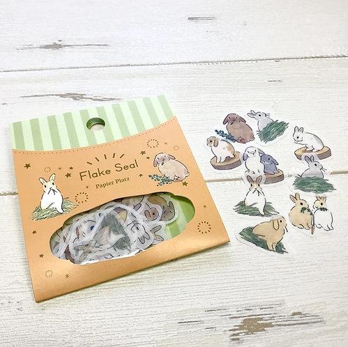 Papier Platz Schinako Moriyama Rabbit stickers