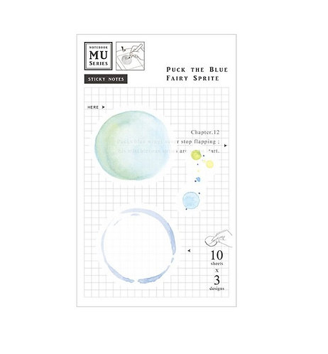 MU Watercolor Translucent Sticky Note Chap.12 Puck The Blue Fairy Sprite