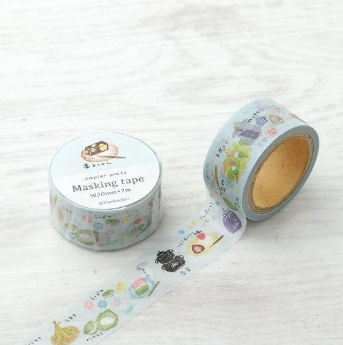 papier platz hankodori wagashi washi tape