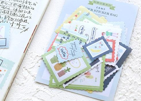 cute art stamp stickers
