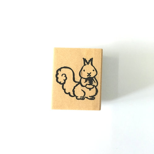 squirrel rubber stamp, kodomo no kao