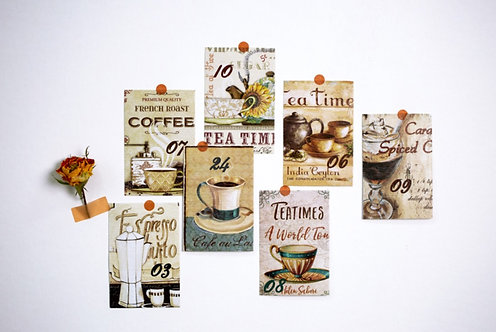 vintage coffee paper booklet journaling ephemera